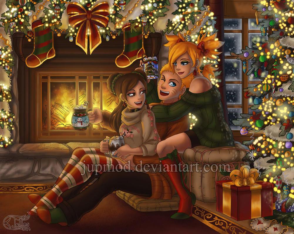 NaruTemaTen: The Warmth of Christmas (Close-up) by JuPMod