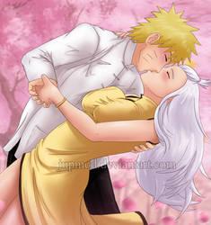 NaruMira: Spring Kiss of Love (Close-up) by JuPMod