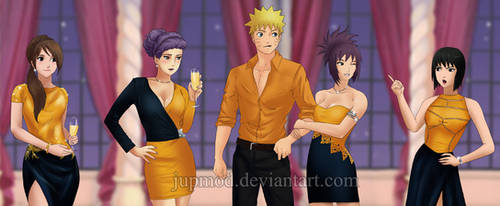 Naruto: Party Lessons from his Nee-chans (Clos-up) by JuPMod