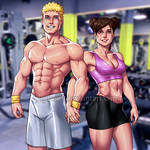 NaruTen: Workout Couple (Full-View) by JuPMod
