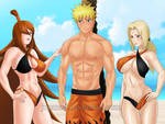 Naruto and The Lady Kages: Care for a Swim? (Clup) by JuPMod