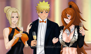Naruto and The Lady Kages: An Evening Seduction CU