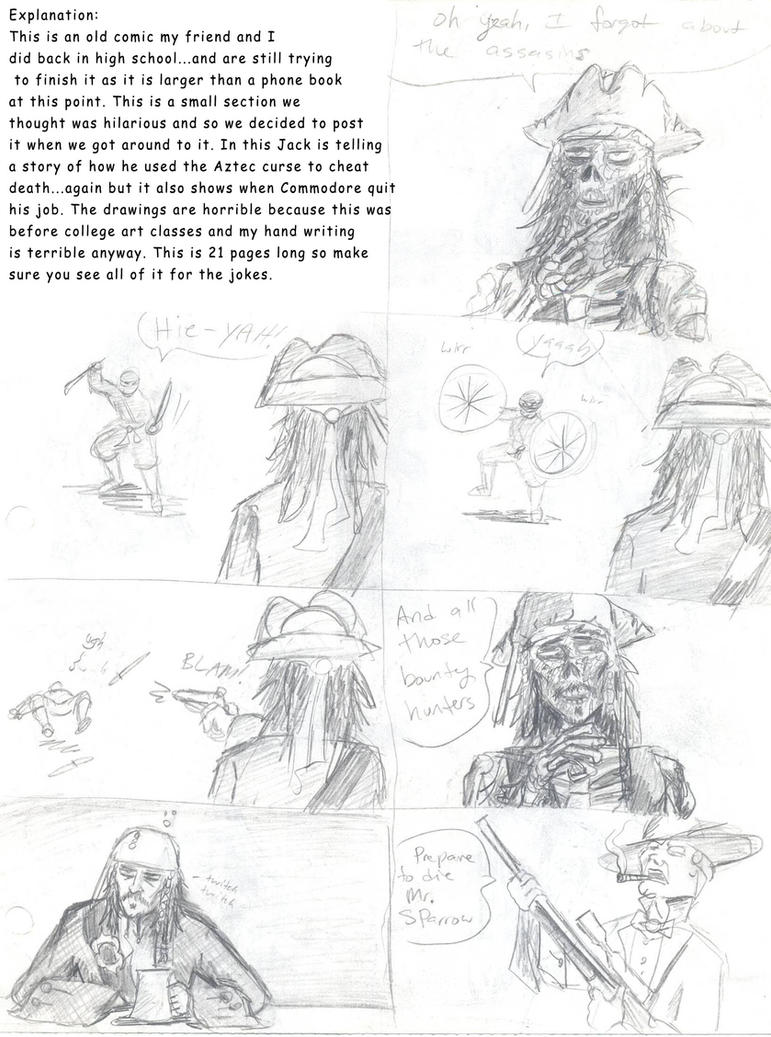 how to draw cartoon jack sparrow