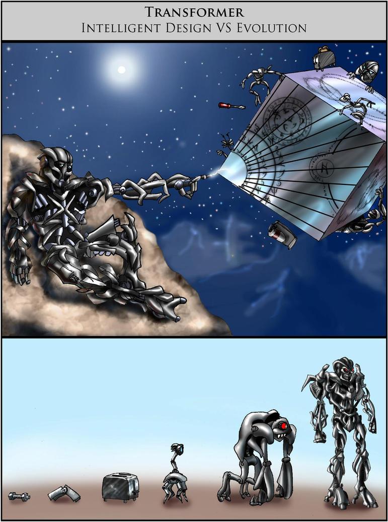 Transformer Intelligent Design VS Evolution by Swashbookler