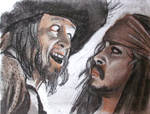 Barbossa and Jack in Charcoal