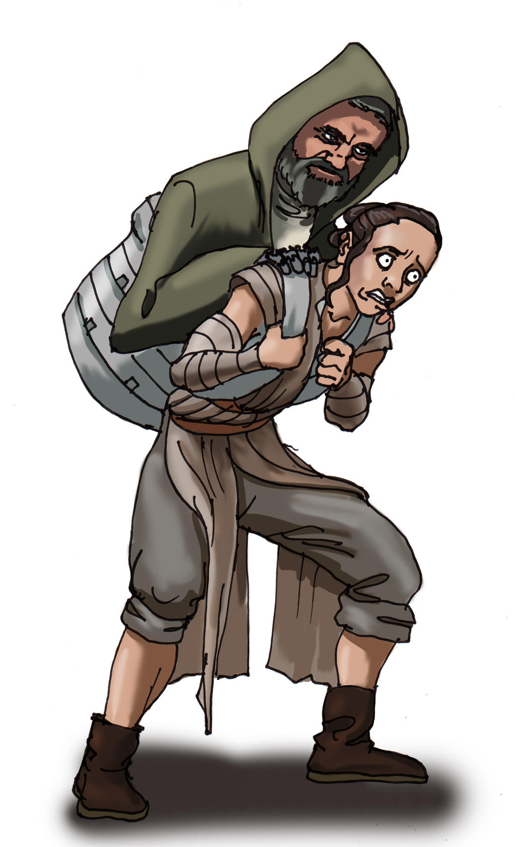 Luke Trains Rey by Swashbookler