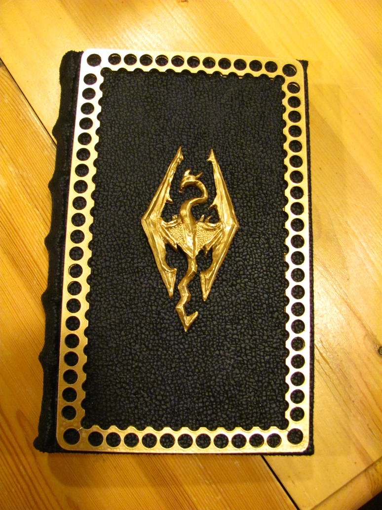Gold Skyrim book ~ For Sale by Swashbookler