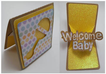Welcome Baby Pop and Twist Card by UniqueDesignsby by UniqueDesignByMonica
