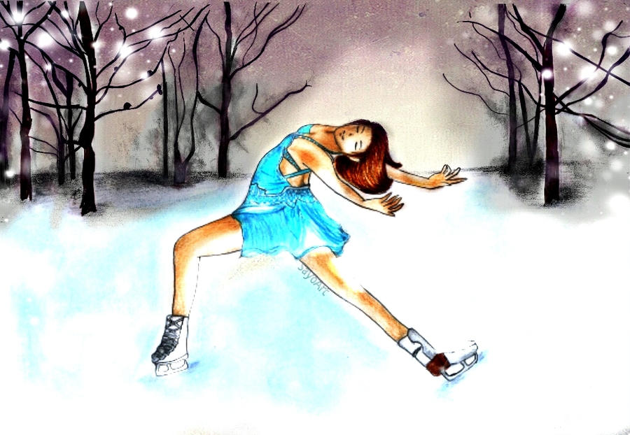 Pictures Of Ice Skate Paintings