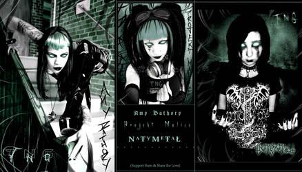 Amy Bathory, Projekt Malice, and NaTy MeTaL by TheEnigmaTNG
