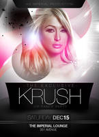 Krush Party Flyer Template PSD by ImperialFlyers