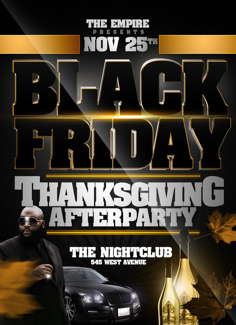 Black Friday Party Template by ImperialFlyers