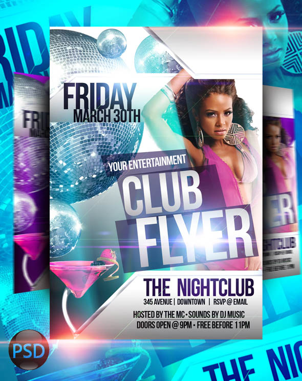 psd club flyer template 30 free