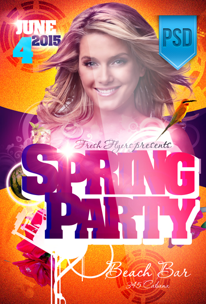 Spring Party Flyer Templates by ImperialFlyers on DeviantArt – Spring Party Flyer