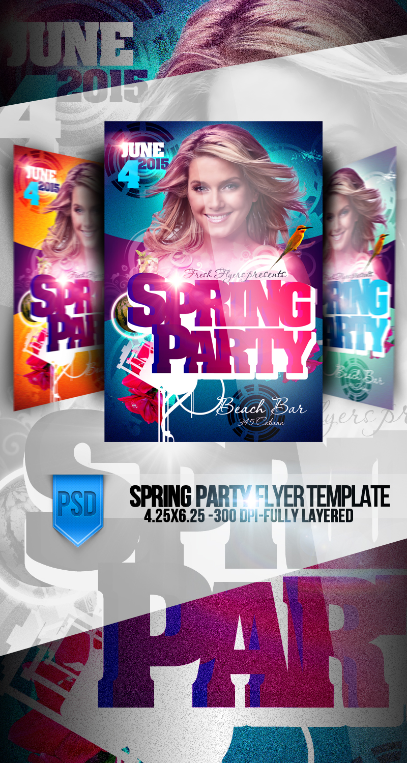 Spring Party Flyer PSD Templates by ImperialFlyers