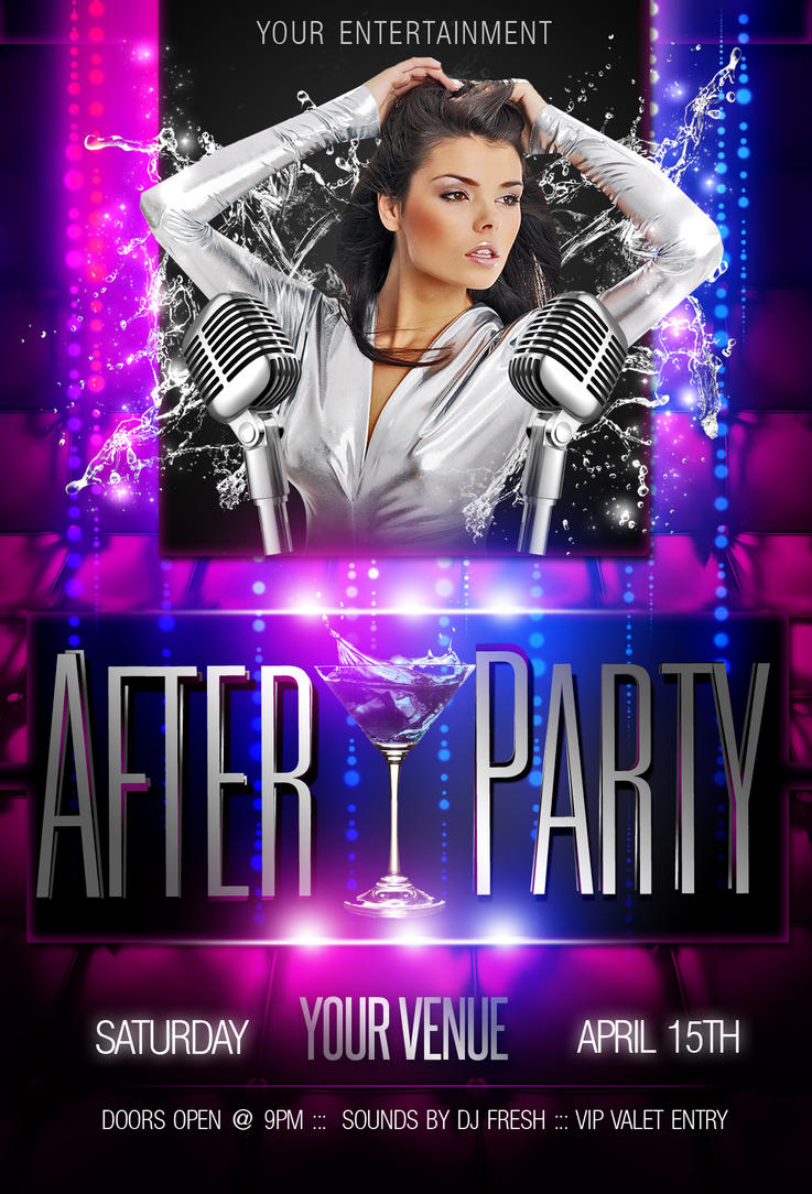 the afterparty flyer template purple by imperialflyers on the afterparty flyer template purple by imperialflyers
