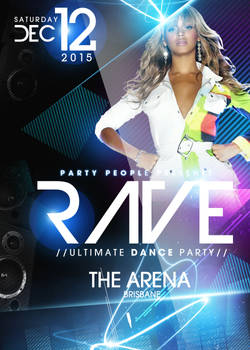 Rave Party PSd Flyer Template FREE DOWNLOAD