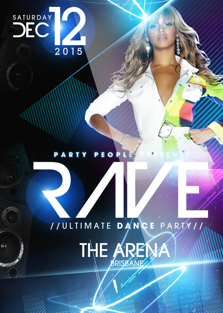 Rave Party PSd Flyer Template FREE DOWNLOAD by ImperialFlyers on ...