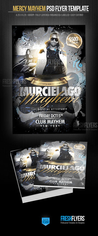 Murcielago Mayhem Party Flyer Template By ImperialFlyers ...