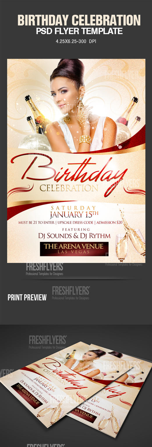 Birthday Party PSD Flyer Template by ImperialFlyers on ...