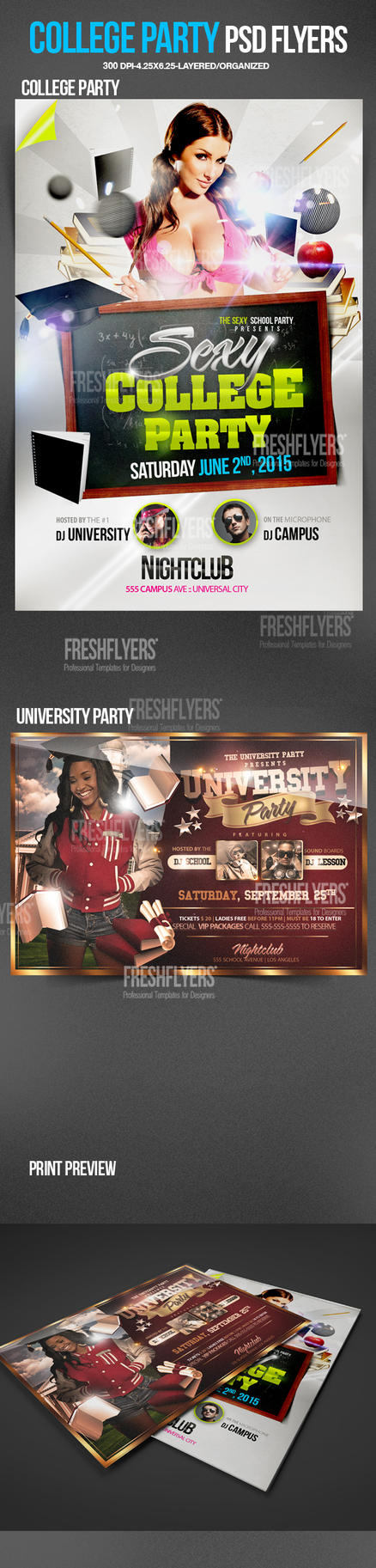 college party psd flyer template by imperialflyers on deviantart