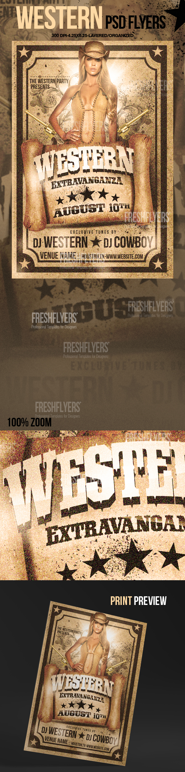 Western Most Wanted Flyer Template By Imperialflyers On Deviantart