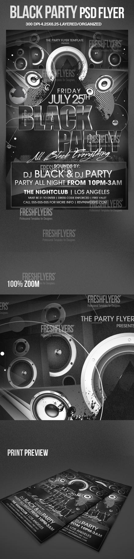 all black party flyer template by imperialflyers on deviantart