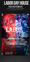 Labor Day House Flyer Design Template