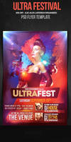 Ultrafest House Party Flyer Template