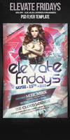 Elevate Fridays Dance Party Flyer Template