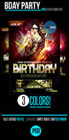 Birthday Bas PSD Flyer Template