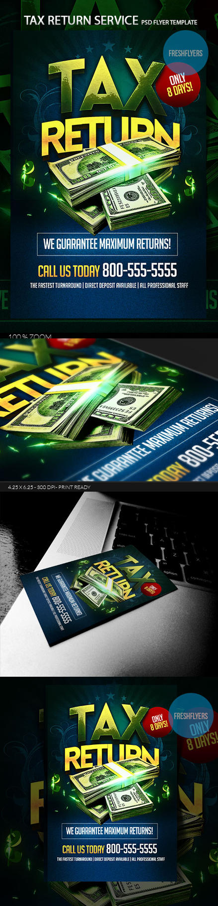 Tax Return PSD Flyer Template by ImperialFlyers