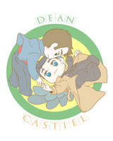 Dean and Castiel by MugenMusouka