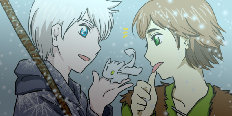 Hiccup and Jack Frost by MugenMusouka