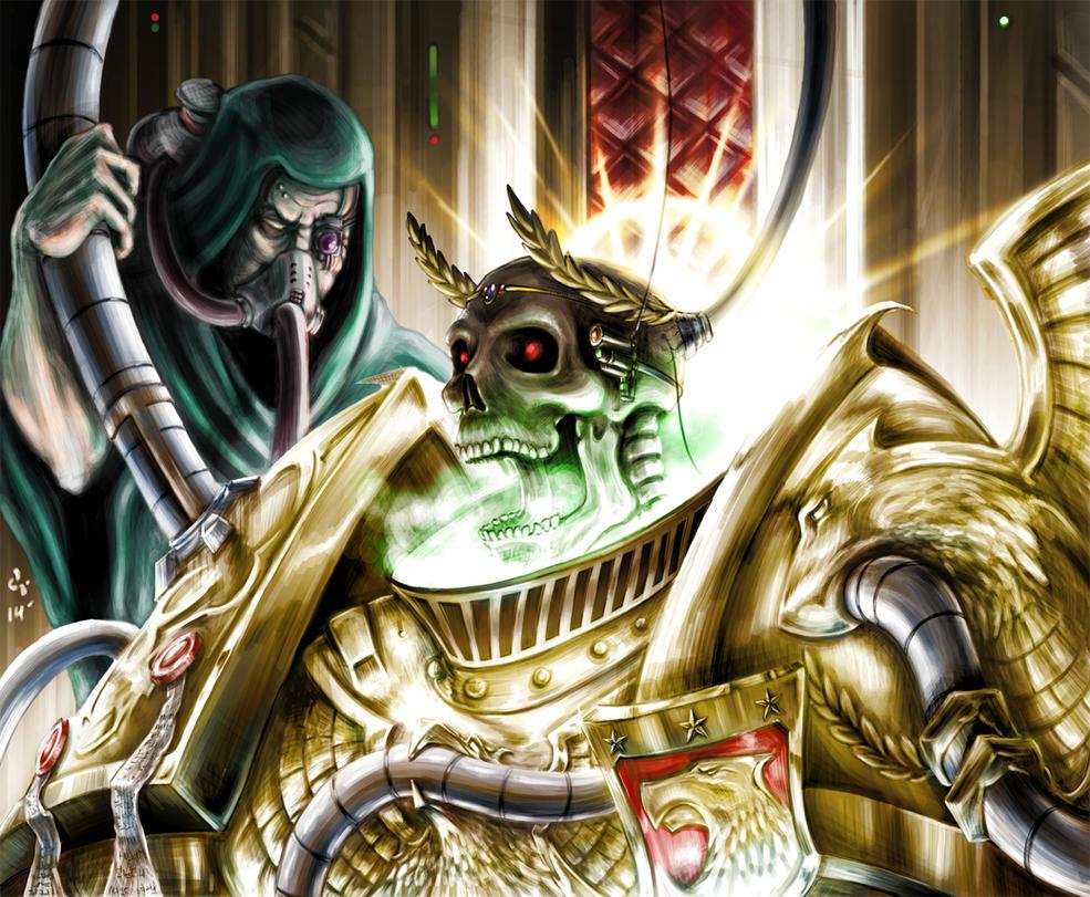 [W30K] L'Empereur de l'Humanité / The Emperor of Mankind - Page 2 Warhammer_40k__emperor_of_mankind_by_devil115-d7f6tm2