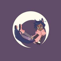 Mooncat is pink
