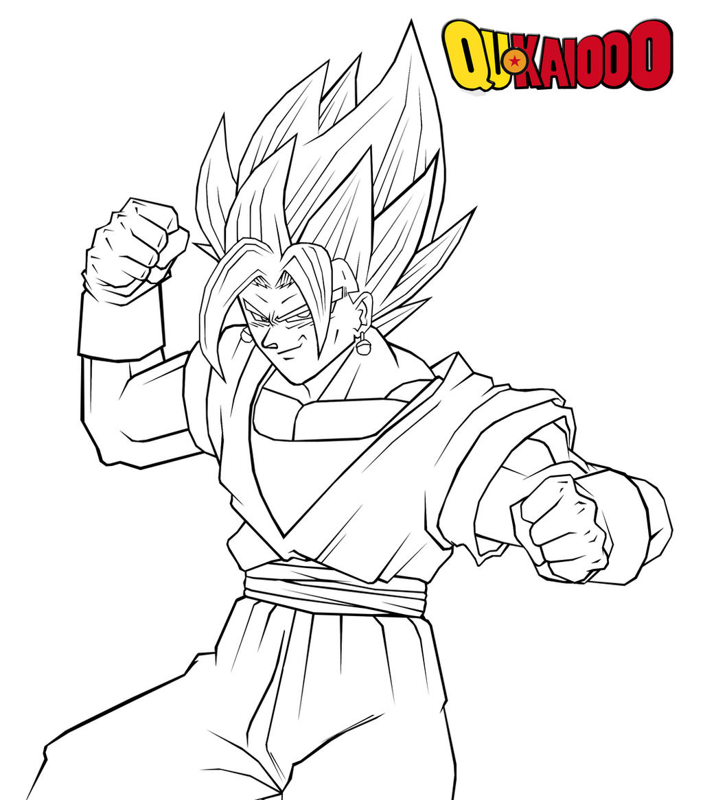 dbz super vegito lineart by qukai415 on deviantart