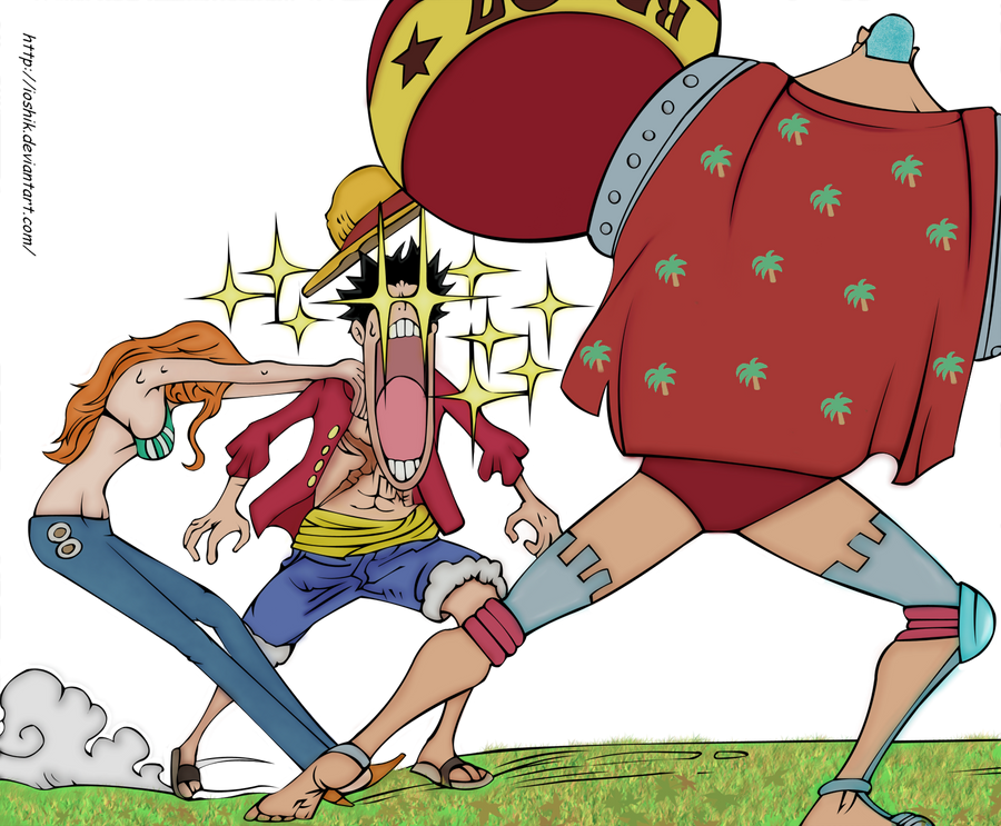 franky luffy nami 2 years after by hex1907 on deviantart