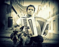 Accordionist Dog Melancholy