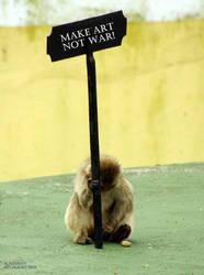 Make Art Not War Protest