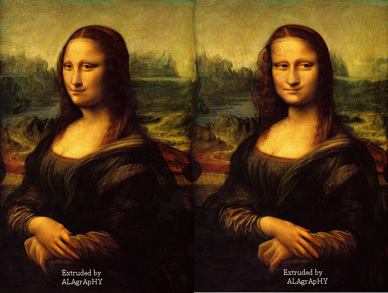 Mona Lisa in 3D by alahay
