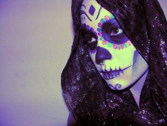 Hipster Skull Girl by clickypenpixieXstock