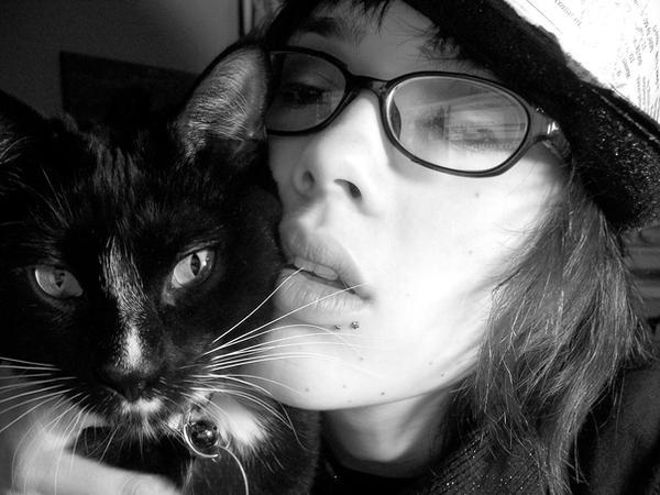 girl and kitty by clickypenpixieXstock