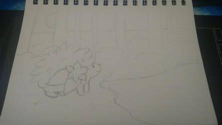 Shaymin Sketch by PXY-ART