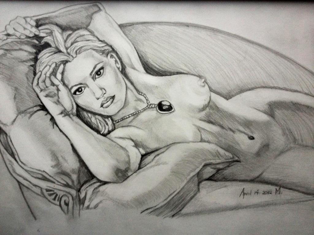 naked drawing of rose dawson