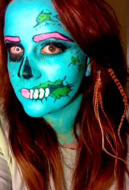 Pop art Zombie Make Up by MaartjeMatheeuwsenPop Art Zombie Makeup