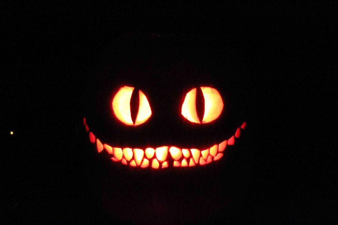 The cheshire cat by 70mustang on deviantart for Cat pumpkin carving patterns