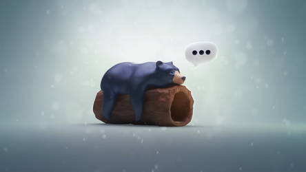 Sleepy bear by YUMEK0N
