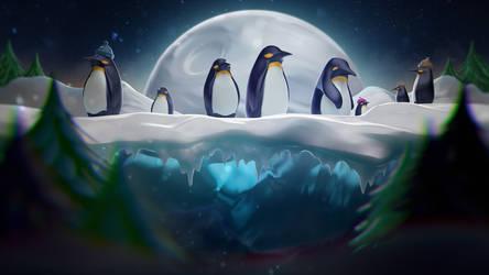 Winter Lullaby: Penguins by YUMEK0N
