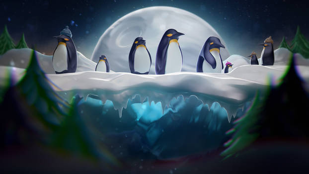 Winter Lullaby: Penguins